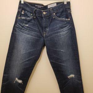 AG THE EX BOYFRIEND Slouchy Slim Distressed Jeans